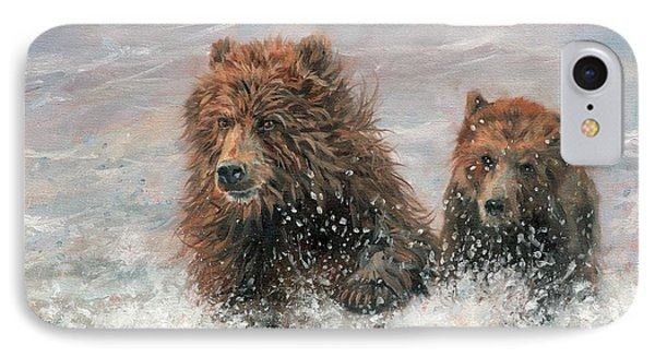 The Bears Are Coming IPhone Case by David Stribbling