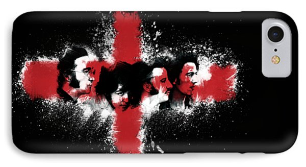 The Beatles In Black IPhone Case by Ryan Anderson