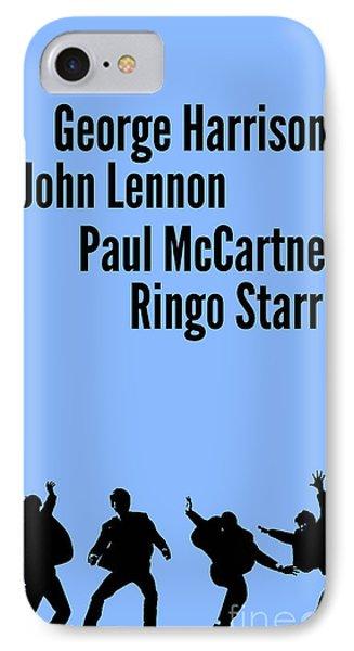 The Beatles John Lennon, Paul Mccartney, George Harrison And Ringo Starr IPhone Case by Pablo Franchi