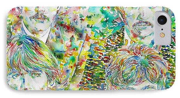 The Beatles - Watercolor Portrait.1 Phone Case by Fabrizio Cassetta