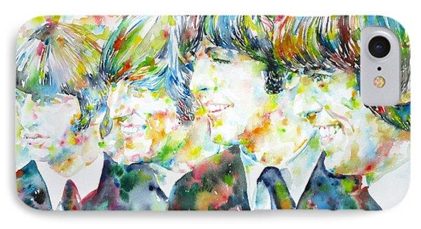 The Beatles - Watercolor Portrait.2 IPhone Case