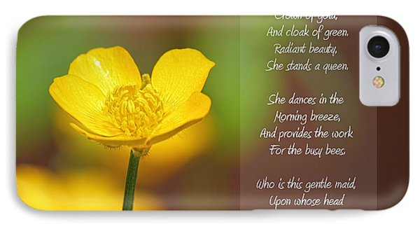 The Beautiful Buttercup Poem IPhone Case by Tracie Kaska
