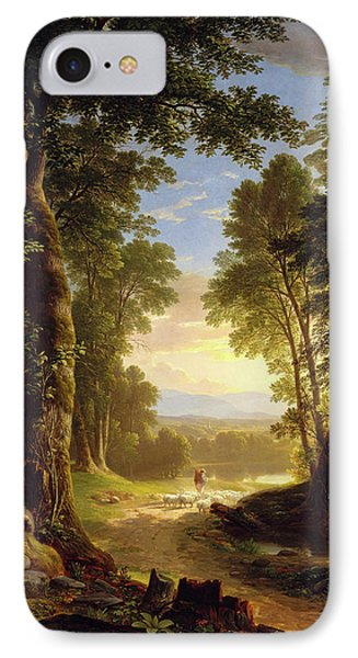 IPhone Case featuring the painting The Beeches By Asher Brown Durand by Asher Brown Durand