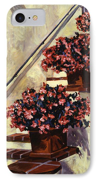 The Begonia Stairs IPhone Case by David Lloyd Glover
