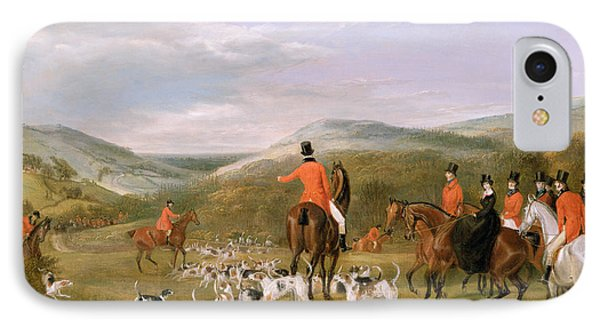 Rural Scenes iPhone 7 Case - The Berkeley Hunt by Francis Calcraft Turner