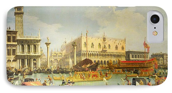 The Betrothal Of The Venetian Doge To The Adriatic Sea Phone Case by Canaletto