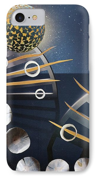 IPhone Case featuring the painting The Big Bang by Michal Mitak Mahgerefteh