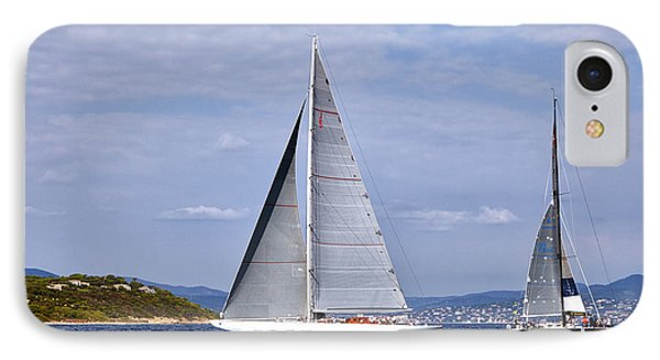 The Big Sailing Yacht In The Gulf Sait-tropez IPhone Case by Sergey Pro