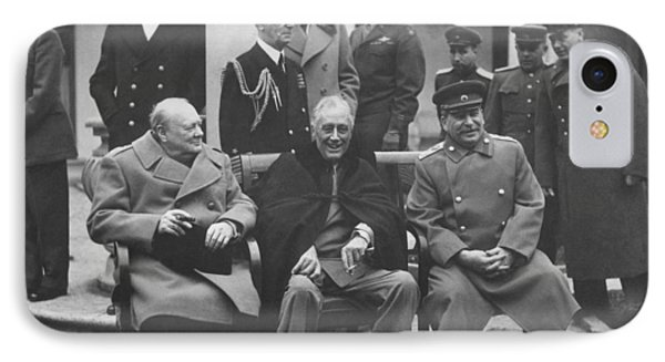 The Big Three -- Ww2 Leaders IPhone Case by War Is Hell Store