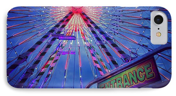 IPhone Case featuring the photograph The Big Wheel by Heidi Hermes