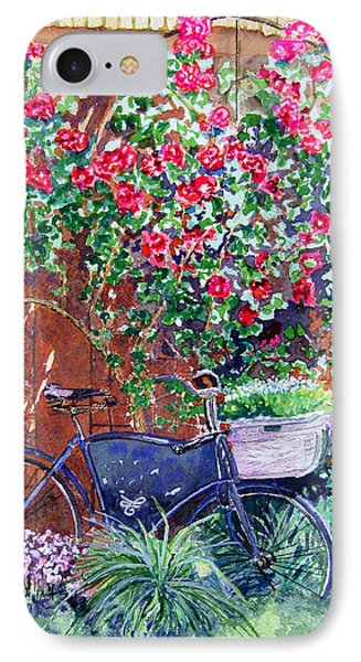 The Bike At Bistro Jeanty Napa Valley Phone Case by Gail Chandler