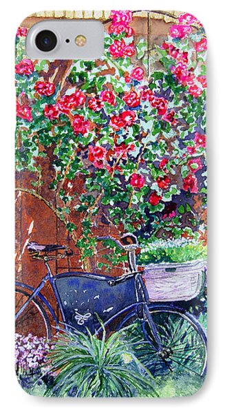The Bike At Bistro Jeanty Napa Valley IPhone Case by Gail Chandler