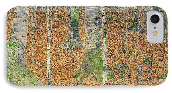 The Birch Wood IPhone Case by Gustav Klimt