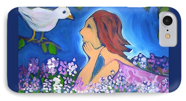 IPhone 7 Case featuring the painting The Bird by Winsome Gunning