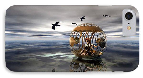 The Birdcage IPhone Case by Sandra Bauser Digital Art