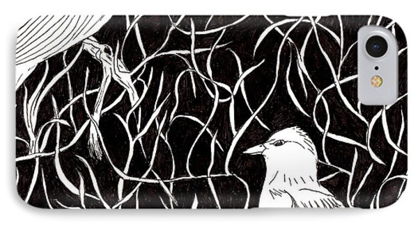 IPhone Case featuring the drawing The Birds by Lou Belcher
