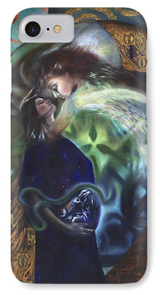 IPhone Case featuring the painting The Birth Of The World by Ragen Mendenhall