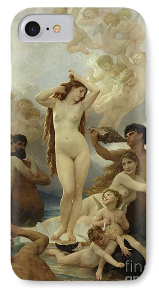 Dolphin iPhone 7 Case - The Birth Of Venus by William-Adolphe Bouguereau