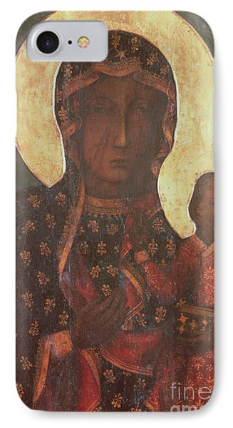 The Black Madonna Of Jasna Gora Phone Case by Russian School