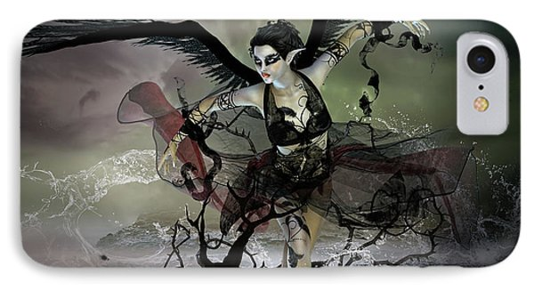 The Black Swan IPhone Case by Mary Hood