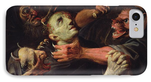 The Blessed Guillaume De Toulouse Tormented By Demons IPhone Case