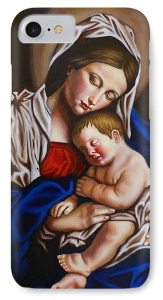 The Blessed Mother And The Infant Jesus IPhone Case