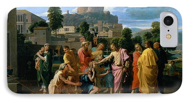 The Blind Of Jericho Phone Case by Nicolas Poussin