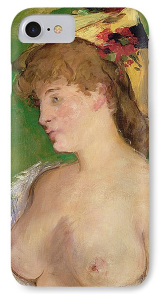 The Blonde With Bare Breasts Phone Case by Edouard Manet