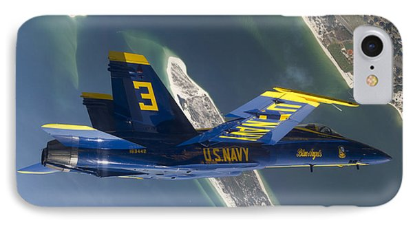 The Blue Angels Perform A Looping Phone Case by Stocktrek Images
