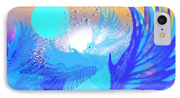The Blue Avians IPhone Case by Ute Posegga-Rudel