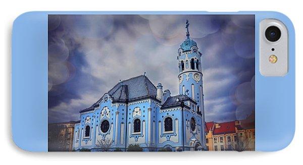 The Blue Church In Bratislava Slovakia IPhone Case by Carol Japp