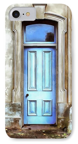 IPhone Case featuring the painting The Blue Door by Edward Fielding