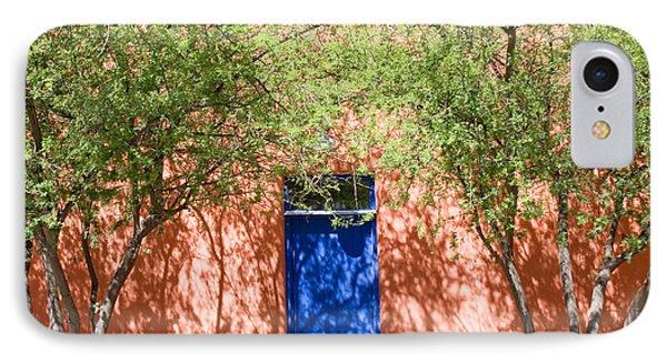 The Blue Door In Springtime IPhone Case by Elvira Butler