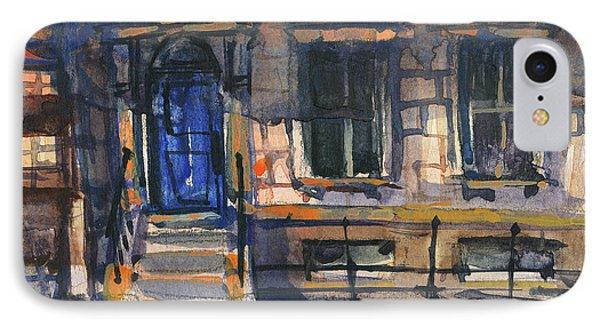 The Blue Door, New York IPhone Case by Kristina Vardazaryan