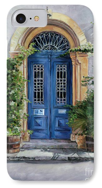 The Blue Door IPhone Case by Theo Michael