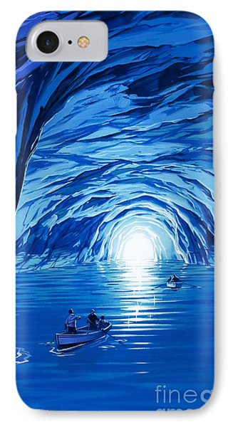 The Blue Grotto In Capri By Mcbride Angus  Phone Case by Angus McBride
