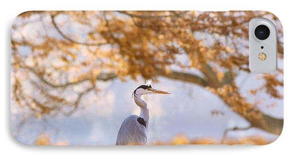 The Blue Heron And The Red Tree IPhone Case by Roeselien Raimond