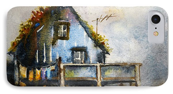 The Blue House IPhone Case by Kristina Vardazaryan