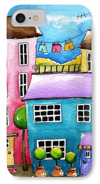 The Blue House Phone Case by Lucia Stewart