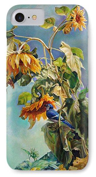 The Blue Jay Who Came To Breakfast Phone Case by Svitozar Nenyuk