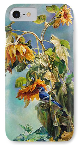 The Blue Jay Who Came To Breakfast IPhone Case by Svitozar Nenyuk