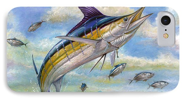 The Blue Marlin Leaping To Eat Phone Case by Terry  Fox