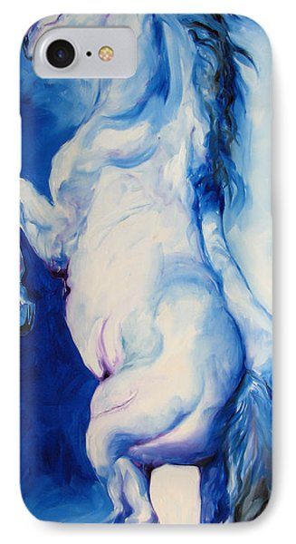 The Blue Roan Phone Case by Marcia Baldwin
