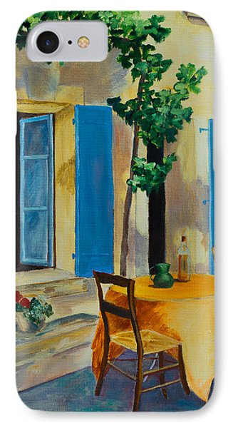 The Blue Shutters Phone Case by Elise Palmigiani
