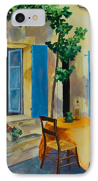 The Blue Shutters IPhone Case by Elise Palmigiani