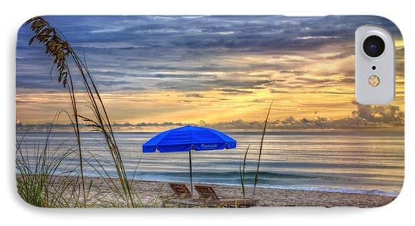The Blue Umbrella IPhone Case by Debra and Dave Vanderlaan