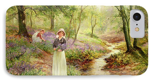 The Bluebell Glade IPhone Case by Ernest Walbourn
