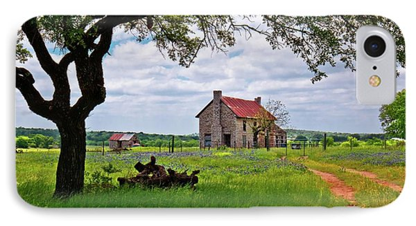 IPhone Case featuring the photograph The Bluebonnet House by Linda Unger