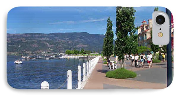 IPhone Case featuring the painting The Boardwalk In Kelowna   by Rod Jellison