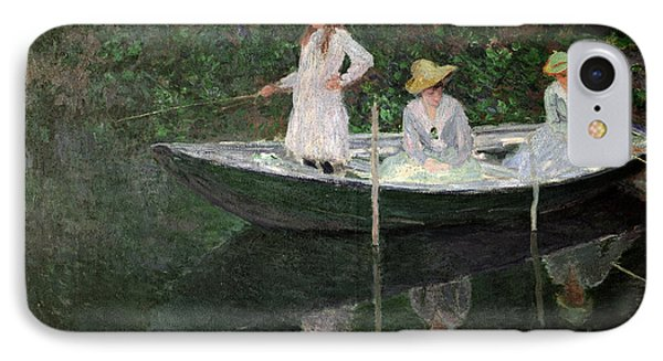 The Boat At Giverny Phone Case by Claude Monet